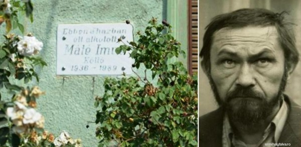 Máté Imre költő emléktáblája
