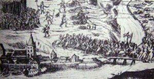 Az első levélben említett szentgotthárdi csata egy 17. századi festményen